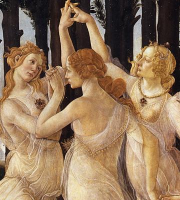 Le tre grazie del Botticelli.